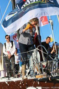 Baptême du bateau de Romain ATTANASIO par Catherine CHABAUD